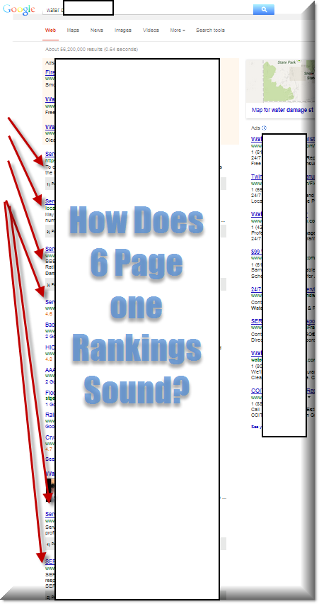 6 page one rankings