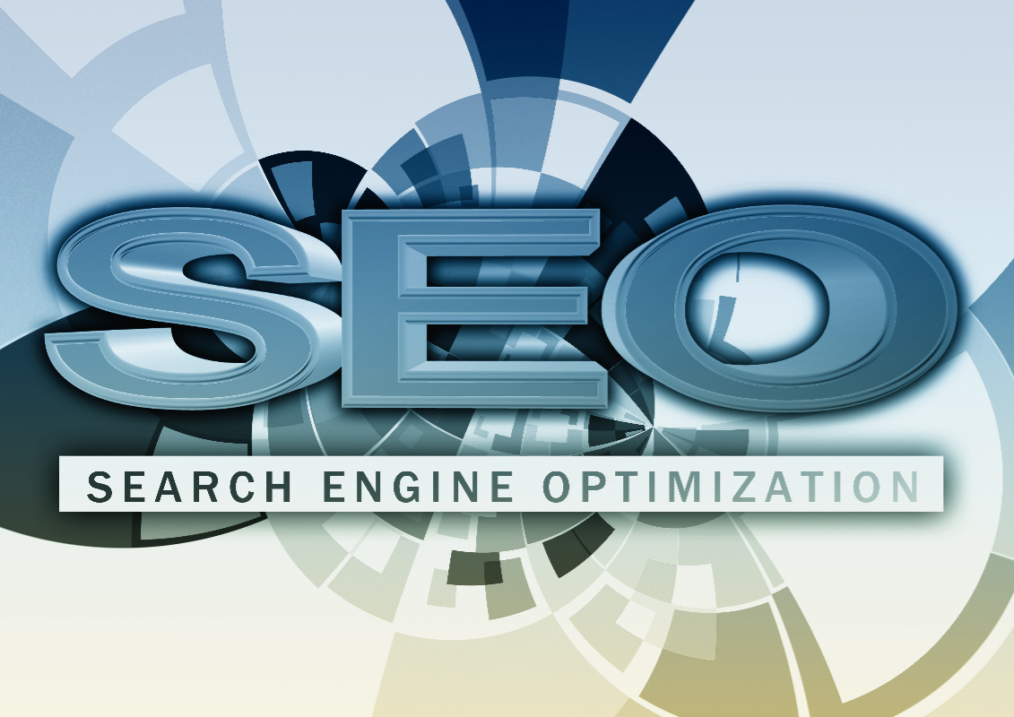 Search Engine Optimization with Blue Border